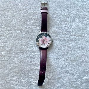 Ted Baker watch floral 🌸 with silver hardware